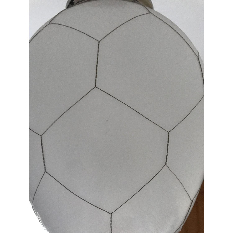 Restoration Hardware Opaque White/Silver Pendant