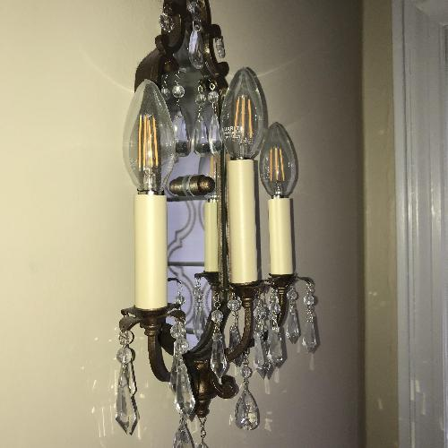 Used Elements Traditional Bronze Wall Sconce for sale on AptDeco