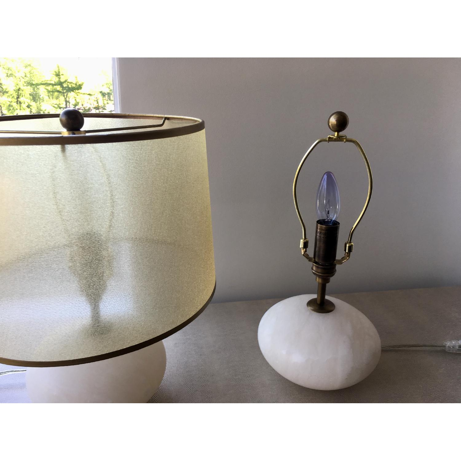 Regina Andrew Modern Alabaster Orb Lamps w/ Gold Shade-2