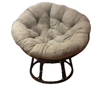 Grace Sage Rattan Papasan Chair & Ottoman
