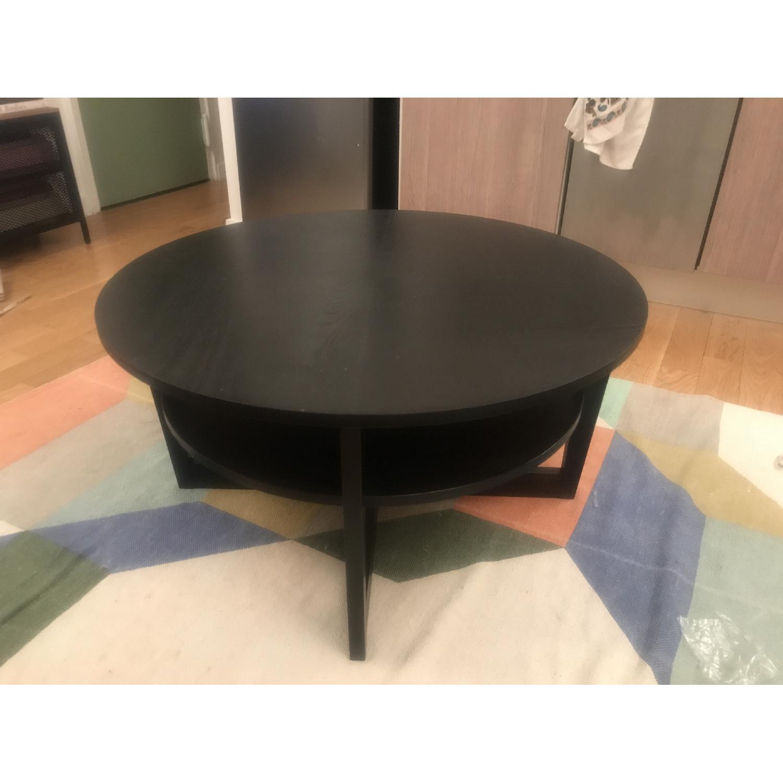 Ikea Vejmon Coffee Table In Black Brown Aptdeco