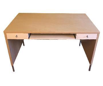 Ikea 2 Drawer Wood Veneer Desk