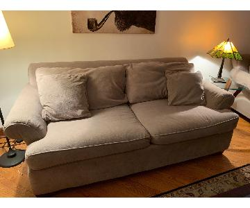 Beige Fabric Sofa