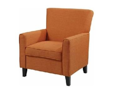 Porch & Den Tallman Orange Accent Chair