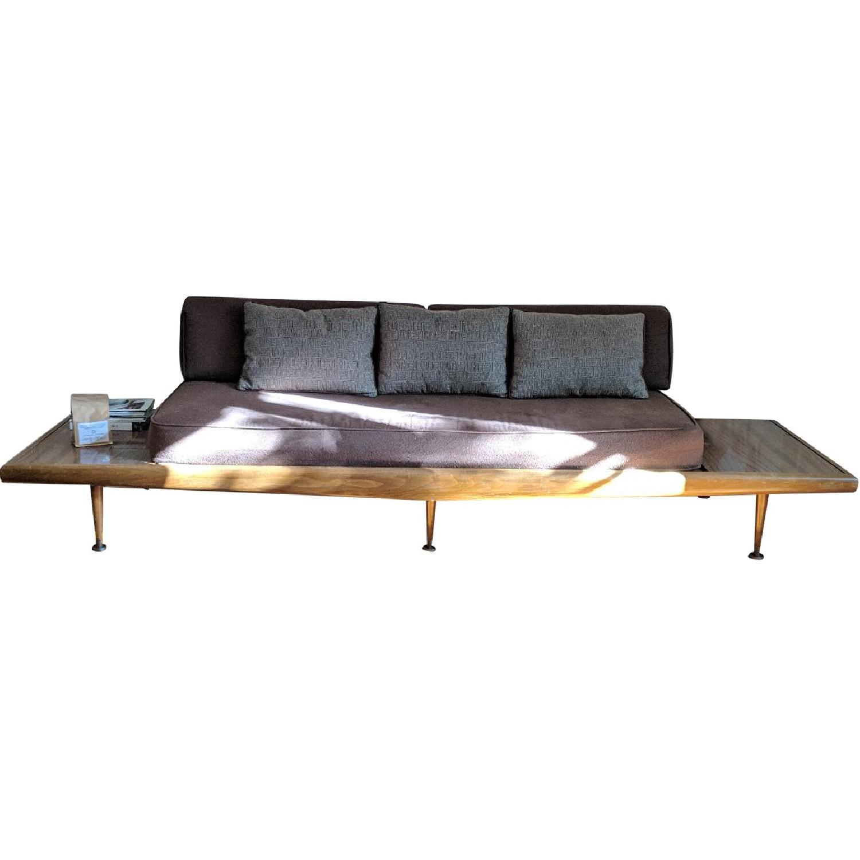Cool Adrian Pearsall Gondola Style Mcm Walnut Sofa Aptdeco Creativecarmelina Interior Chair Design Creativecarmelinacom