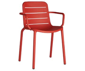 CB2 Gina Red Outdoor Armchairs