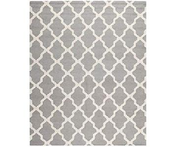 Safavieh Quatrefoil 10x14 Rug in Light Gray/Blue
