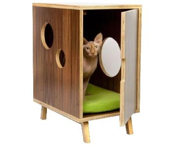 Mid Century Modern Side Table/Pet Clubhouse