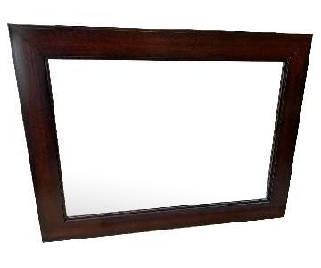 Pottery Barn Classic Espresso Wall Mirror