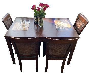 Rich Walnut Dining Table w/ 4 Chairs