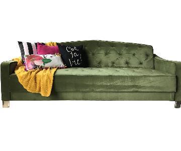 Novogratz Vintage Tufted Sleeper Sofa