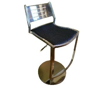Leather & Steel Adjustable Stools