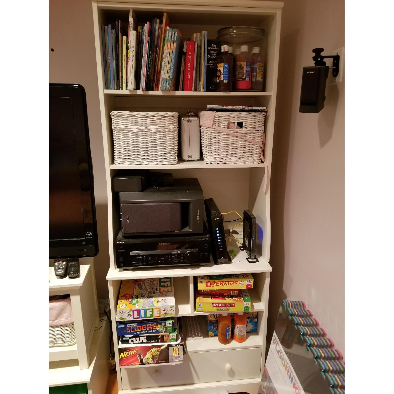 Pottery Barn Bookcases w/ Drawer-1