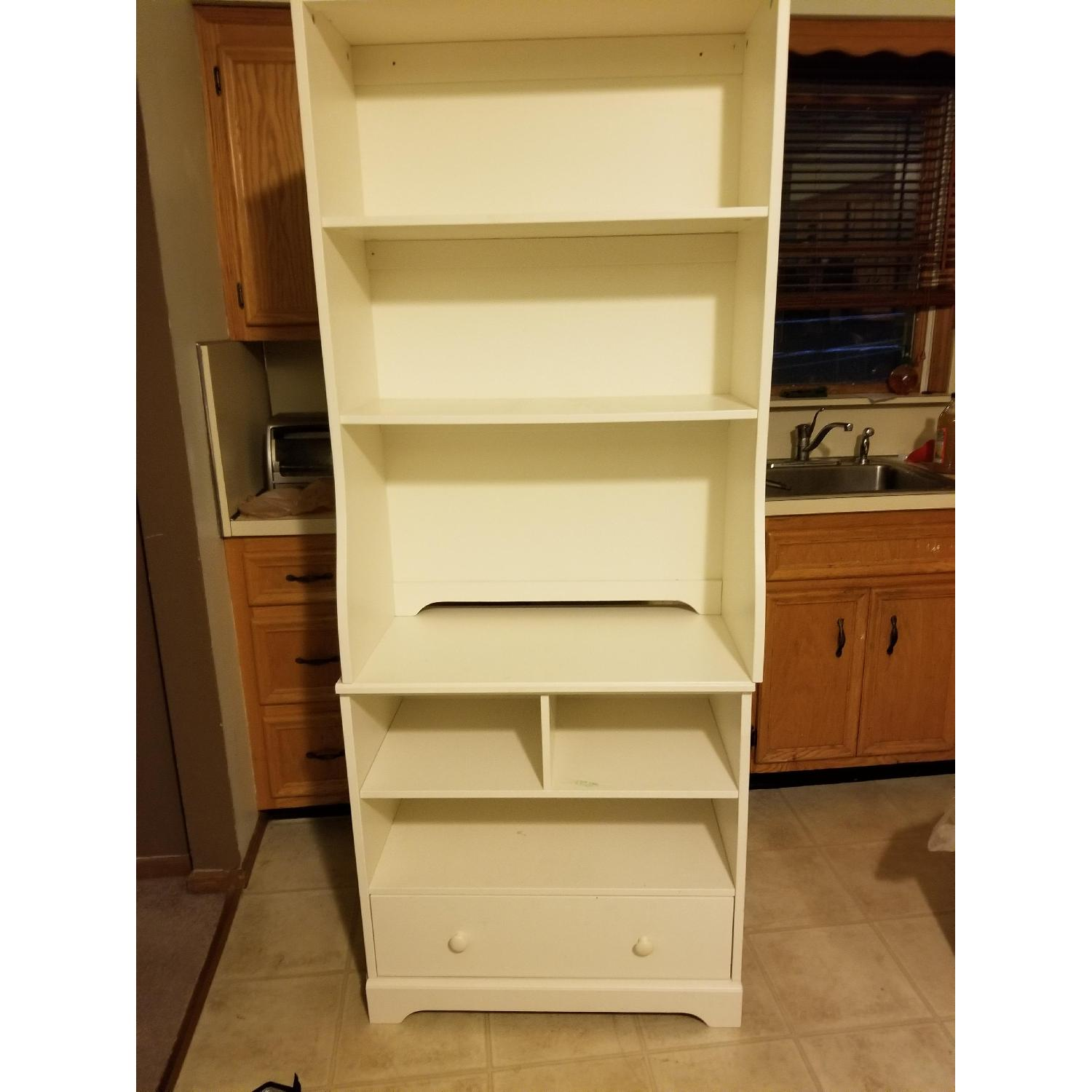 Pottery Barn Bookcases w/ Drawer-2
