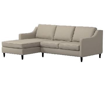 West Elm Paidge 2-Piece Chaise Sectional Sofa