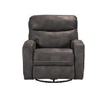 Raymour & Flanigan Auden Swivel Power Recliner