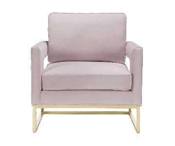 TOV Furniture Pink Velvet Arm Chairs
