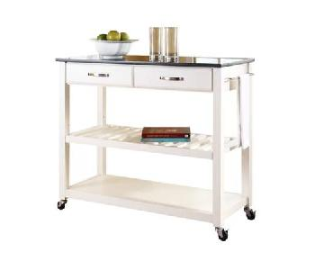 Hedon Kitchen Island w/ Granite Top