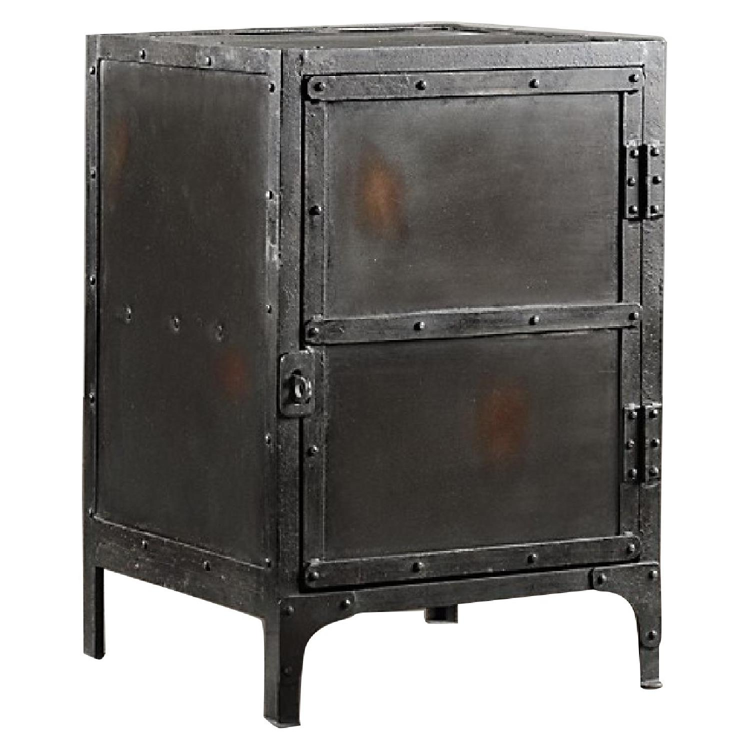 Restoration Hardware Industrial Tool Chest Side Tables