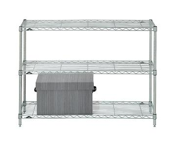 InterMetro Chrome Shelving Unit