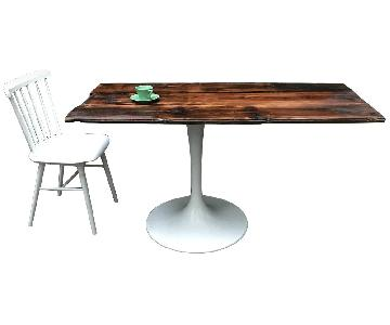 Cantilevered Dining Table w/ Tulip Base & 1 Chair