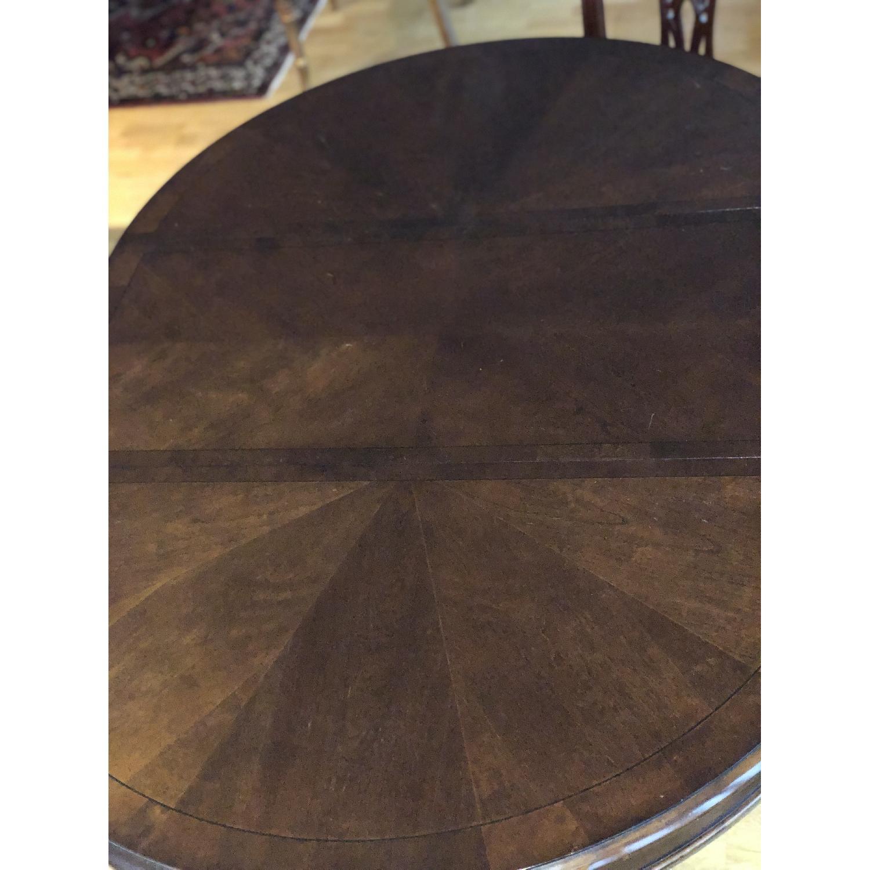 Lexington Round Cherry Expandable Pedestal Dining Table