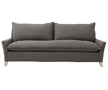 West Elm Bliss Queen Sleeper Sofa in Linen Weave Platinum