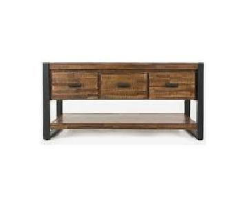 Sandyston Rustic TV stand w/ Drawers