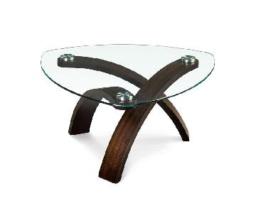 Rooms To Go Wood & Glass Coffee Table