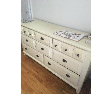 Raymour & Flanigan Cream 8-Drawer Dresser