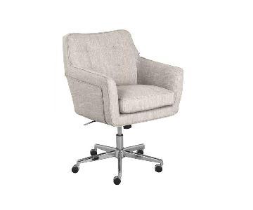 Upholstered Gray Desk Chair