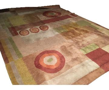 Safavieh Red & Beige Geometric Pattern Rug