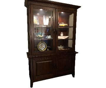 Solid-Wood Lighted China Cabinet