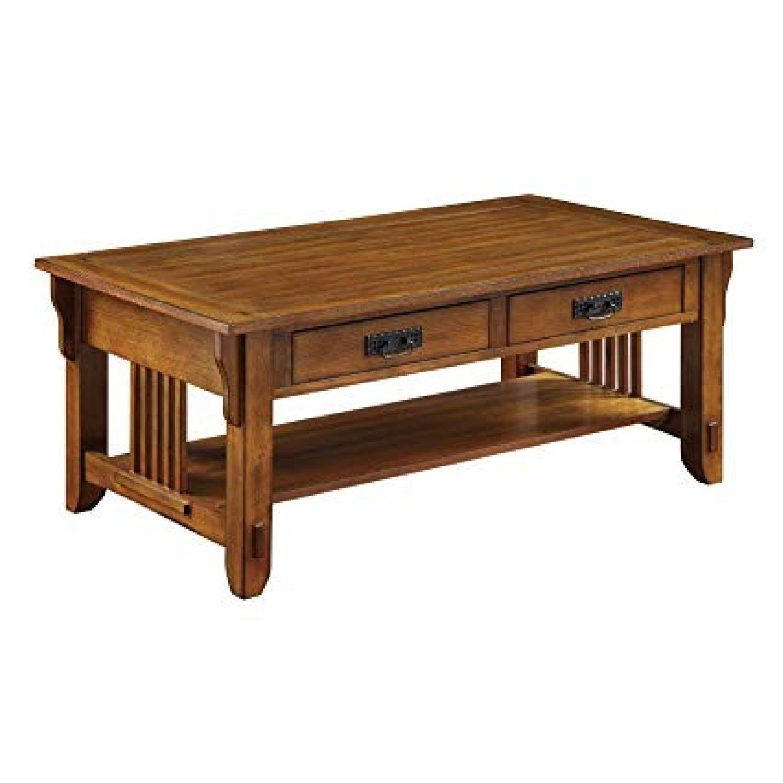 Warm Brown Coffee Table w/ Storage Drawer