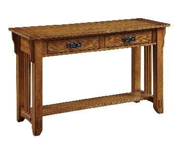 Warm Brown Sofa Table w/ Storage Drawer