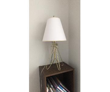 Flight Gold Table Lamp w/ Linen Shade