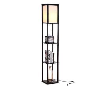 Brightech Maxwell Modern LED Floor Lamps w/ Shelf