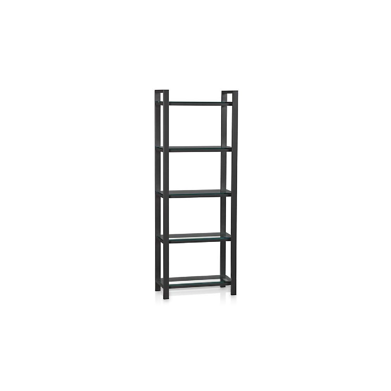 Crate & Barrel Pilsen Graphite Bookcase