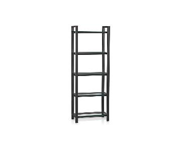Crate & Barrel Pilsen Graphite Bookcase