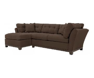 Raymour & Flanigan Cindy Crawford 2 Piece Sectional Sofa