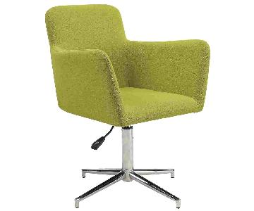 Modern Height Adjustable Dining Chair w/ Chartreuse Fabric