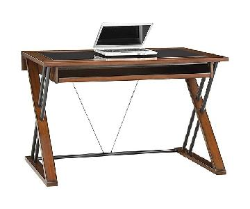 Whalen Astoria Glass Top Computer Desk