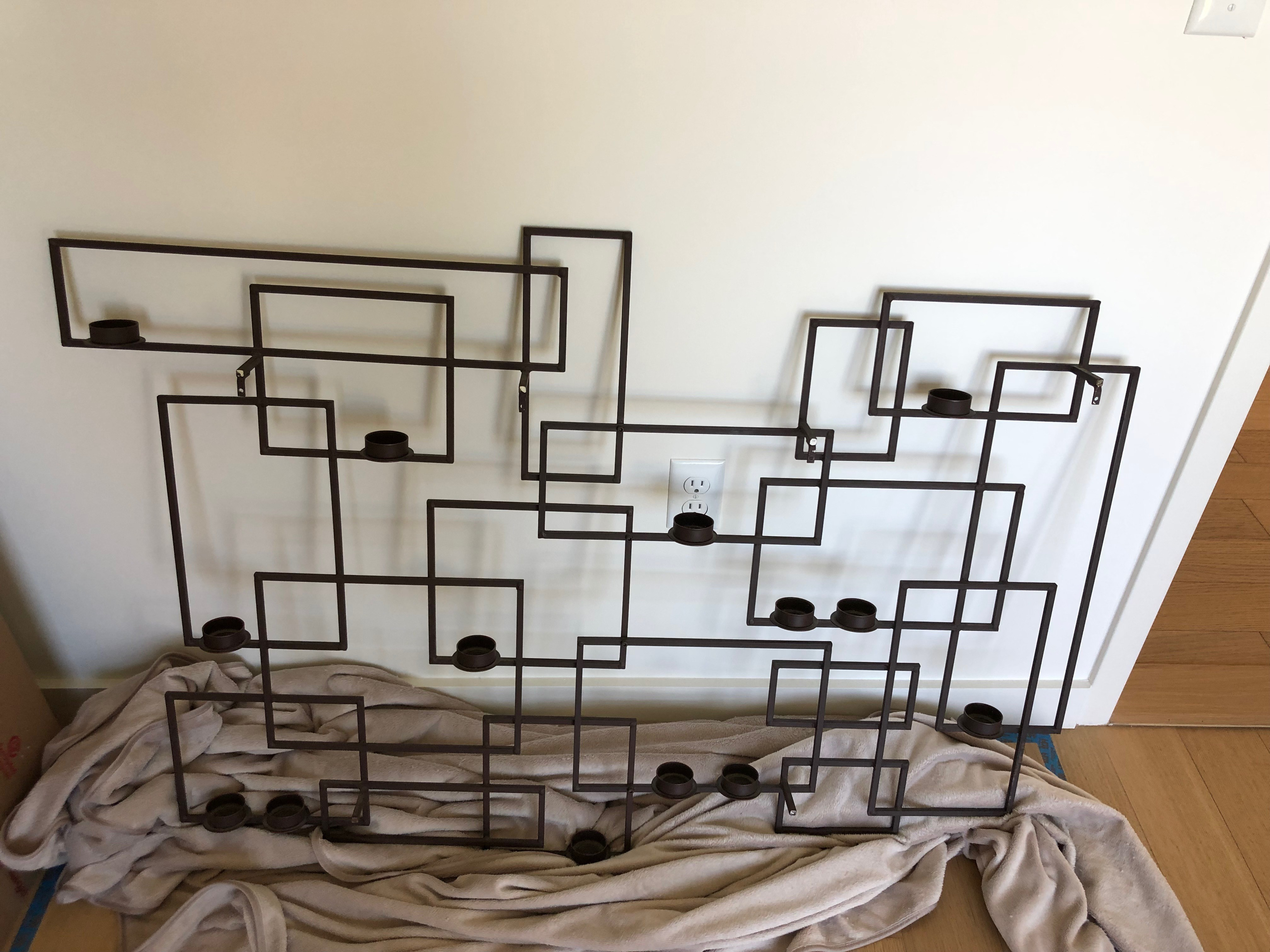 Crate & Barrel Wall Candle Holder