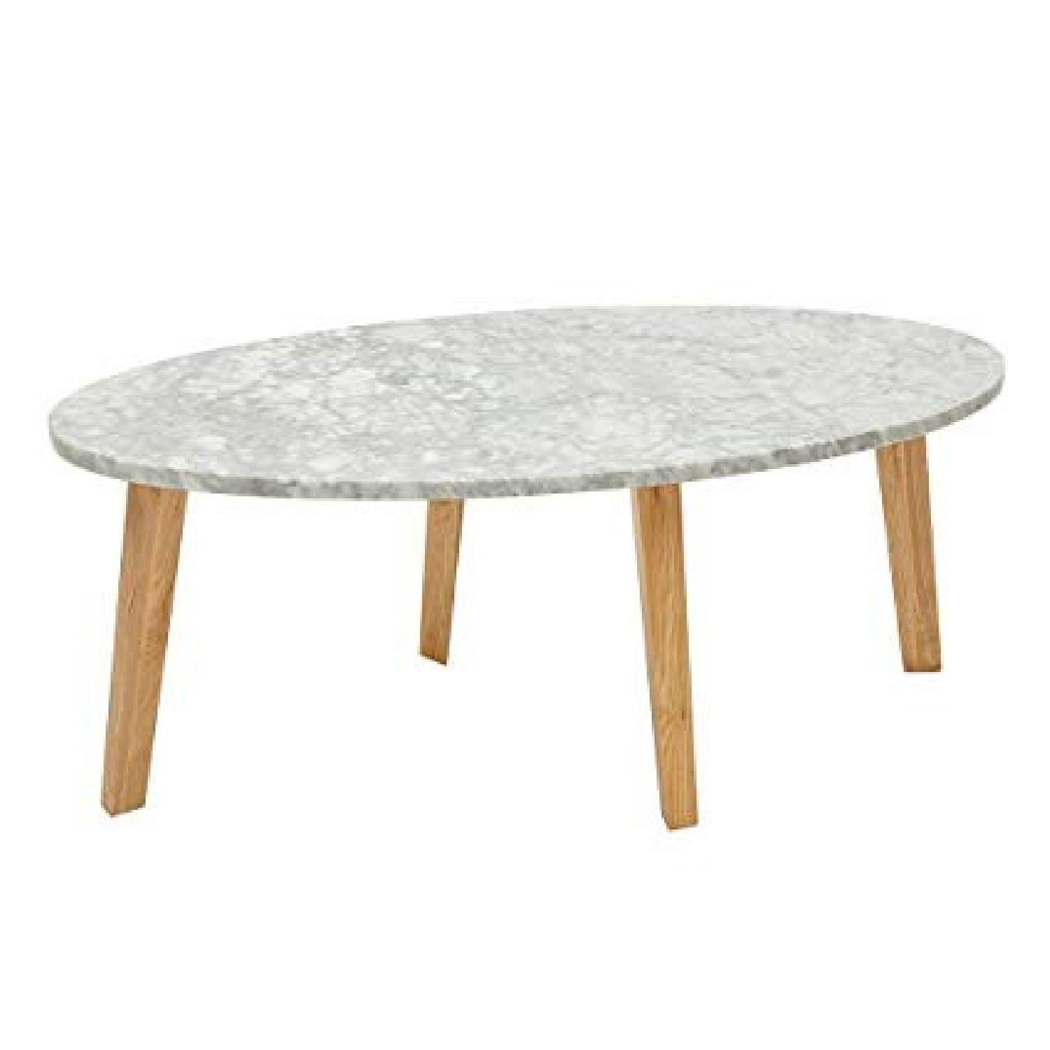 Ink & Ivy White Marble Coffee Table