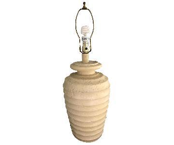 Vintage 1980's Plaster Beehive Table Lamp