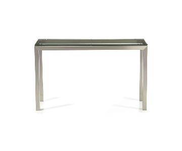 Crate & Barrel Glass Top Console