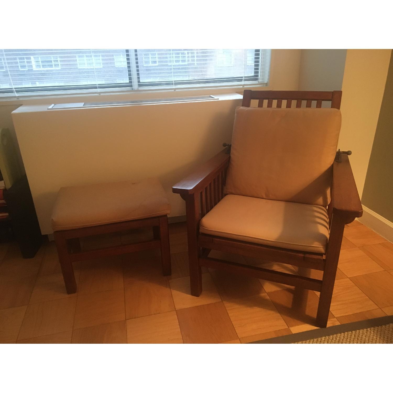Crate & Barrel Chair & Matching Ottoman