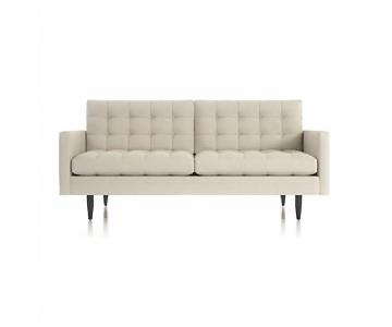 Crate & Barrel Petrie Mid Century Apartment Sofa