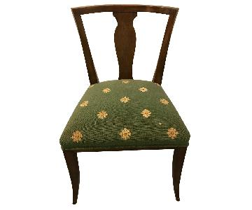 Antique Wood Upholstered Dining Chairs