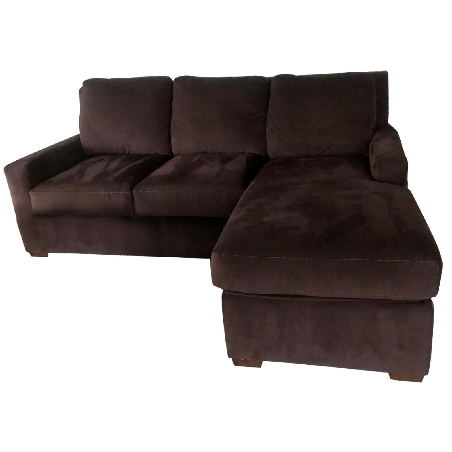 American Leather Queen Sleeper Sectional Sofa w/ - AptDeco